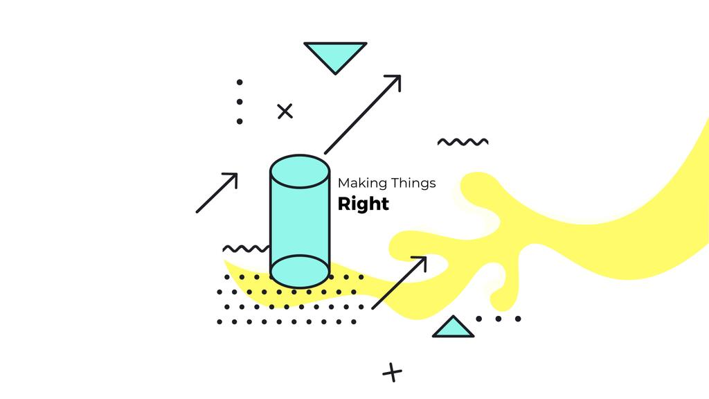 Quote on Moving Geometric Figures Background in Yellow — Створити дизайн