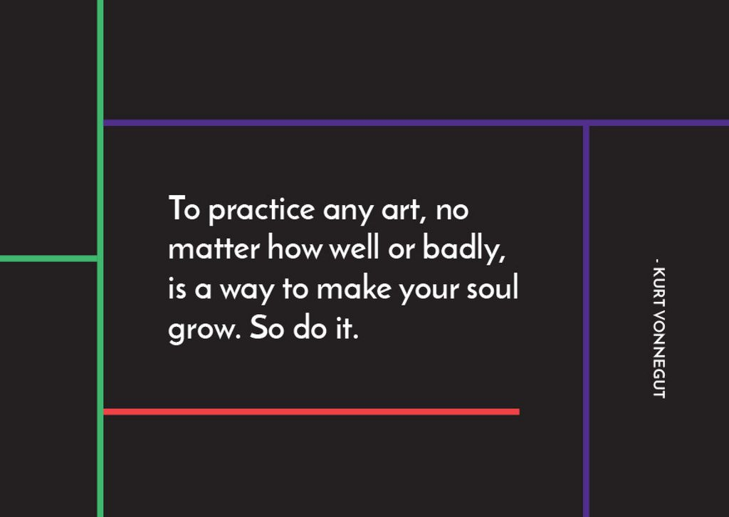 Citation about practice to any art — Crear un diseño