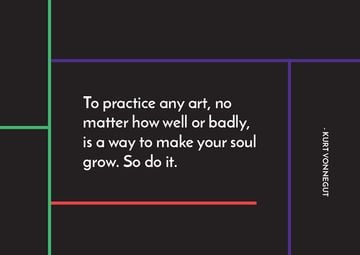 Citation about practice to any art
