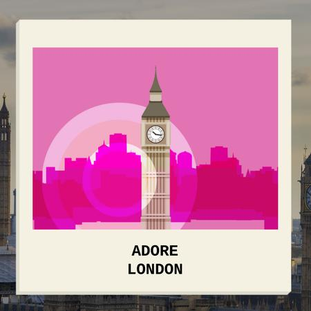 Template di design London Big Ben Famous Travelling Spot Animated Post