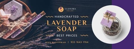 Natural Handmade Soap Shop Ad Facebook cover Modelo de Design