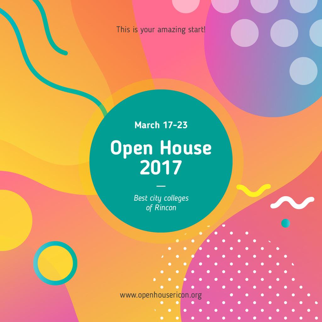 Educational Event Bright Memphis Pattern | Instagram Ad Template — Створити дизайн