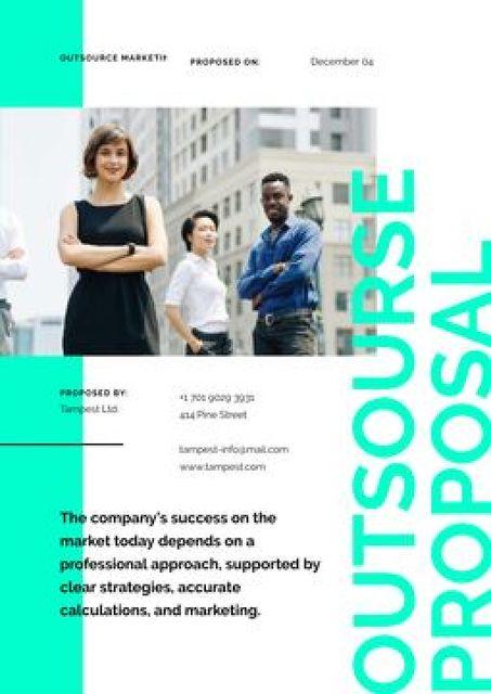 Plantilla de diseño de Outsource Marketing Services offer Proposal