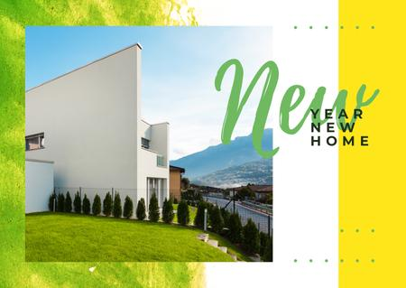 Plantilla de diseño de Real Estate Ad with Modern House Facade Postcard