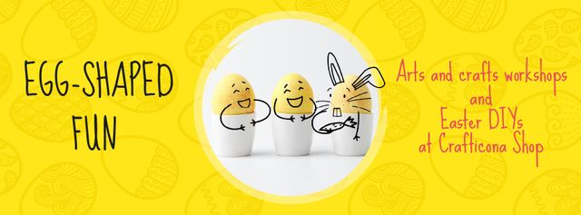 Greeting Cards Offer with cute Easter Eggs Facebook Video cover Modelo de Design
