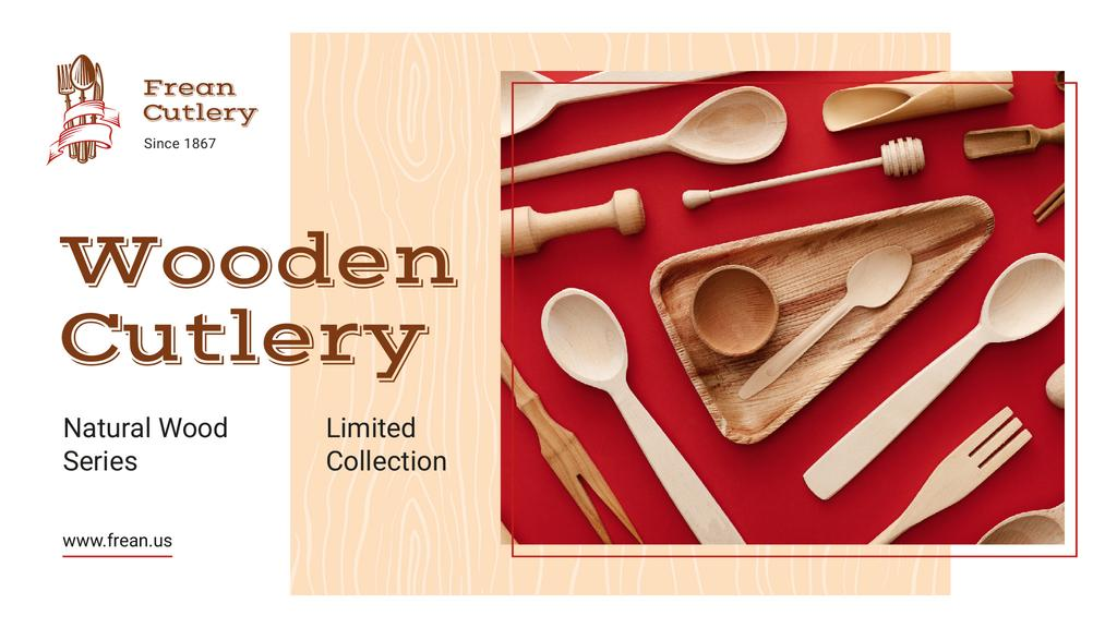 Kitchenware Ad Wooden Cutlery Set — Create a Design