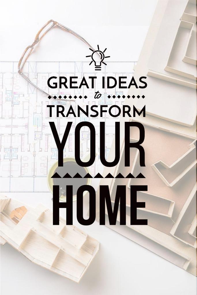 Plantilla de diseño de Home decor interior design with creative ideas Pinterest
