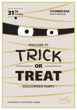 Halloween Party Scary Mummy | Invitation Template