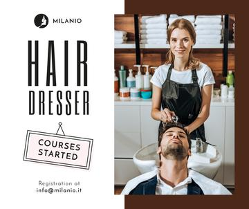 Hairdressing Courses Ad Stylist with Client in Salon