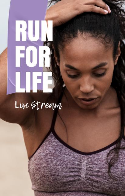 Female Runner live stream IGTV Cover – шаблон для дизайну