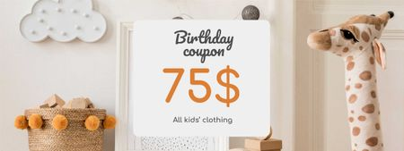 Plantilla de diseño de Kids' Clothing Birthday Offer Coupon