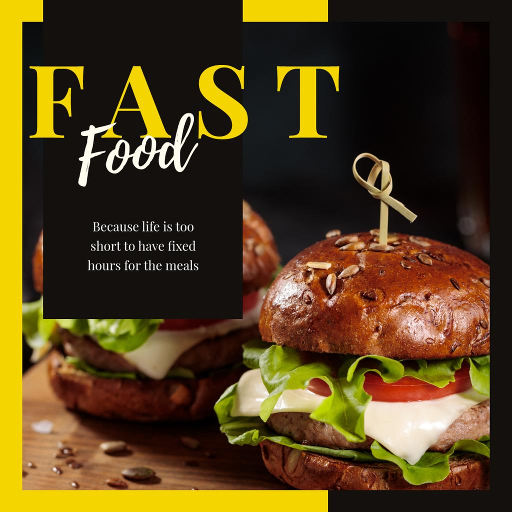 Mouthwatering fast food burgers — Створити дизайн