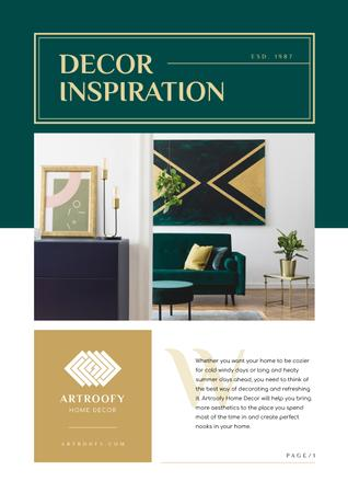 Ontwerpsjabloon van Newsletter van Decor Inspiration with Cozy Home