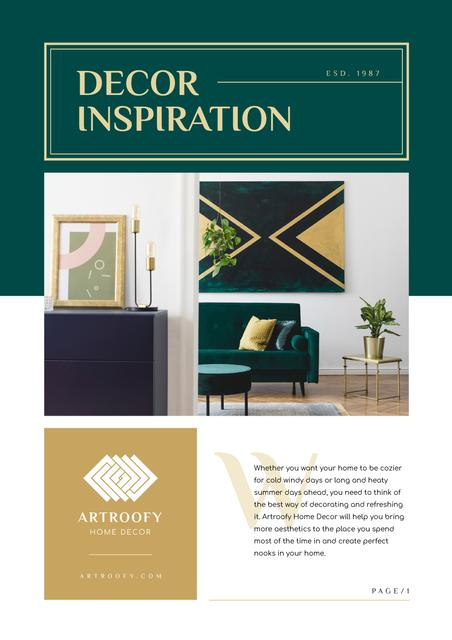 Decor Inspiration with Cozy Home Newsletter Design Template