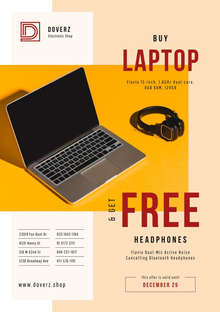 Gadgets Offer with Laptop and Headphones — Crear un diseño