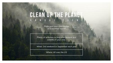 Template di design Ecological Event Foggy Forest View Title