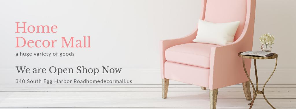 Home Decor Offer with Soft pink armchair — Create a Design