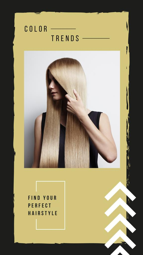 Young attractive woman with long hair — Maak een ontwerp