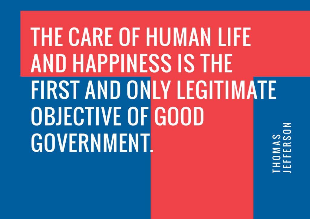 Government Quote on blue and red — ein Design erstellen