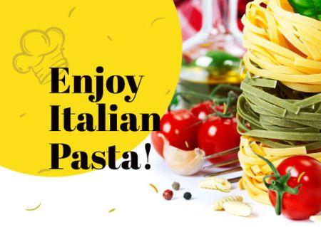 Plantilla de diseño de Italian pasta Dish Card