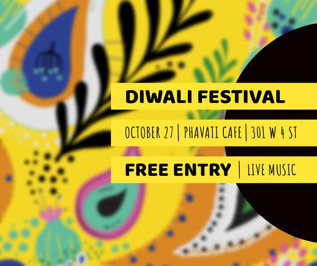 Happy Diwali celebration event Facebook – шаблон для дизайна