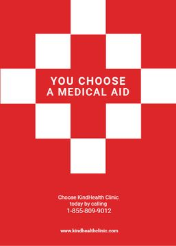 medicaid clinic red poster