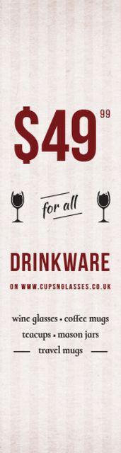 Drinkware for all shop Skyscraper – шаблон для дизайну