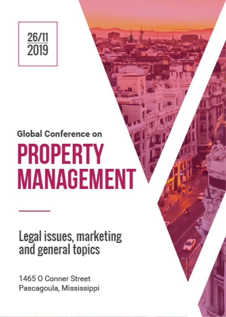 Property management global conference poster — Створити дизайн