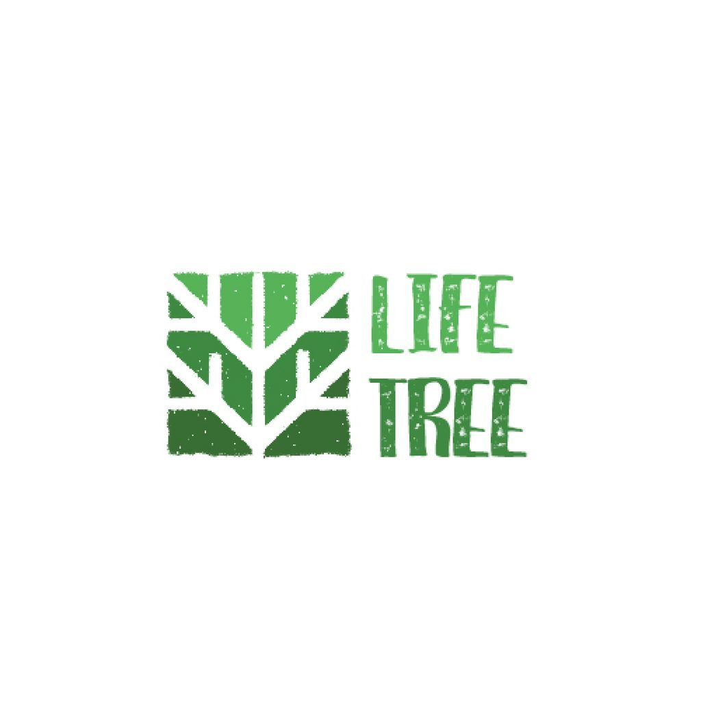 Ecological Organization Logo with Tree in Green — Создать дизайн