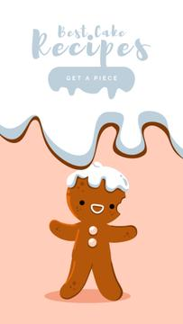 Christmas Bakery Gingerbread Man | Vertical Video Template