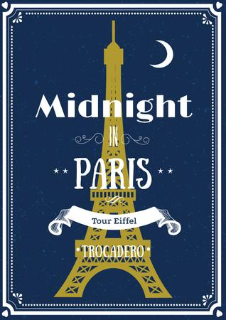 Modèle de visuel Midnight in Paris card - Poster
