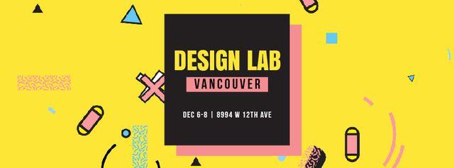 Simple icons pattern Facebook Video cover – шаблон для дизайну