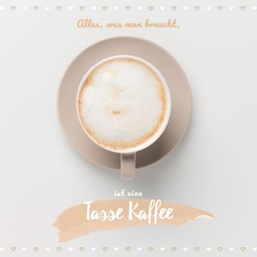 Coffee Shop Invitation Cup of Cappuccino | Square Video Template