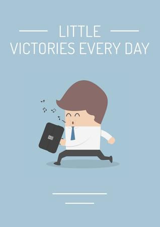 Ontwerpsjabloon van Poster van Citation about little victories every day