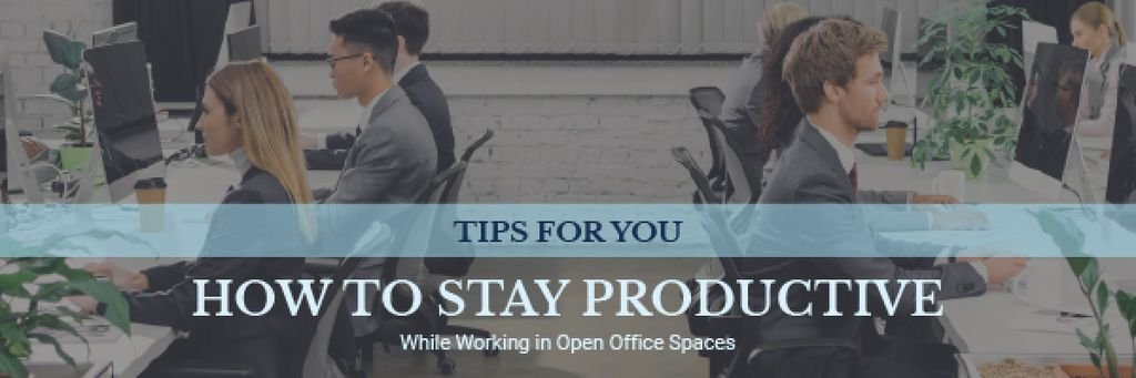 Productivity Tips Colleagues Working in Office — Crea un design