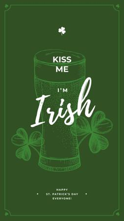 Saint Patrick's Day beer glass Instagram Story Modelo de Design