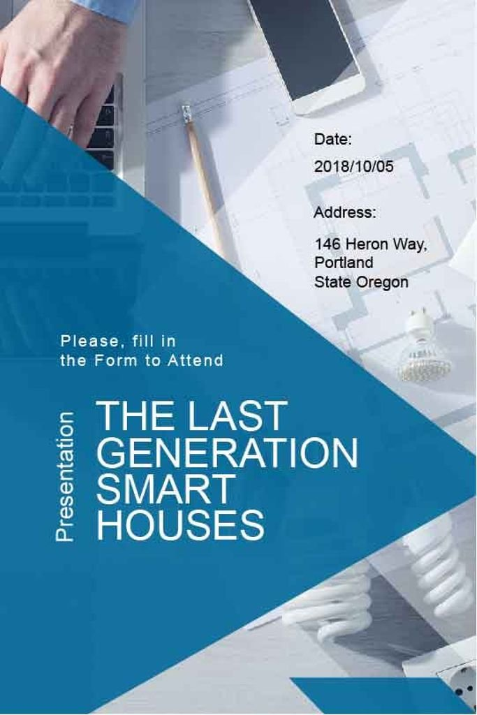 Presentation banner of smart houses  — Create a Design