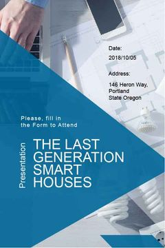 Presentation banner of smart houses