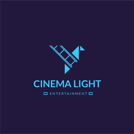 Cinema Club Ad with Film Icon Logoデザインテンプレート
