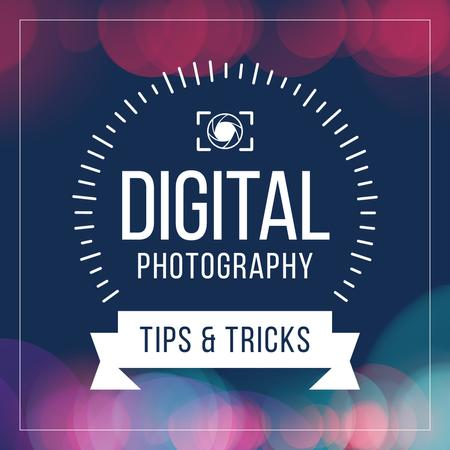 Digital Photography Tips and Tricks Instagram Modelo de Design