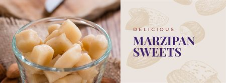 Ontwerpsjabloon van Facebook cover van Marzipan sweets offer