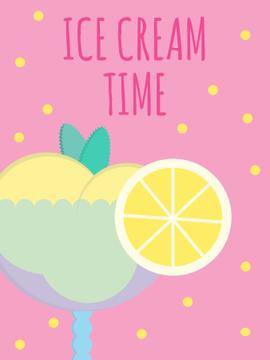 Ice cream cafe poster