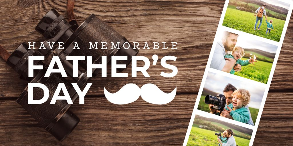memorable Father's Day postcard — Create a Design