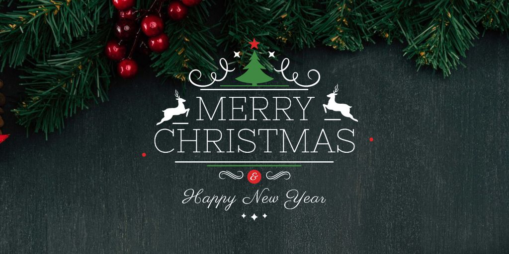 Merry Christmas card — Crea un design