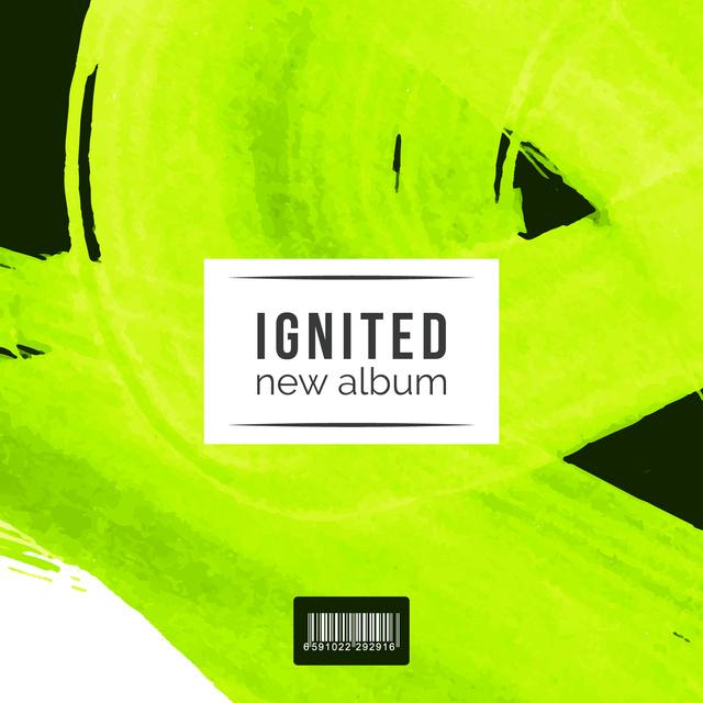 Neon Paint smudges Album Cover Modelo de Design