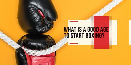 Template di design Boxing Guide Gloves in Red Image