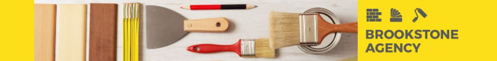 Modèle de visuel Tools for Home Renovation in Yellow - Leaderboard