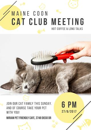 Plantilla de diseño de Cat club meeting Poster