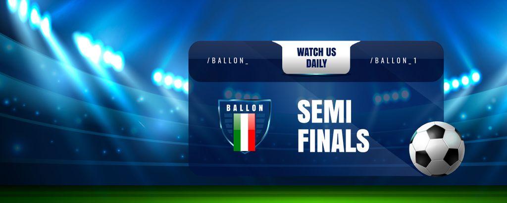 Sport Game Stream Ad with Illuminated Stadium — Crea un design