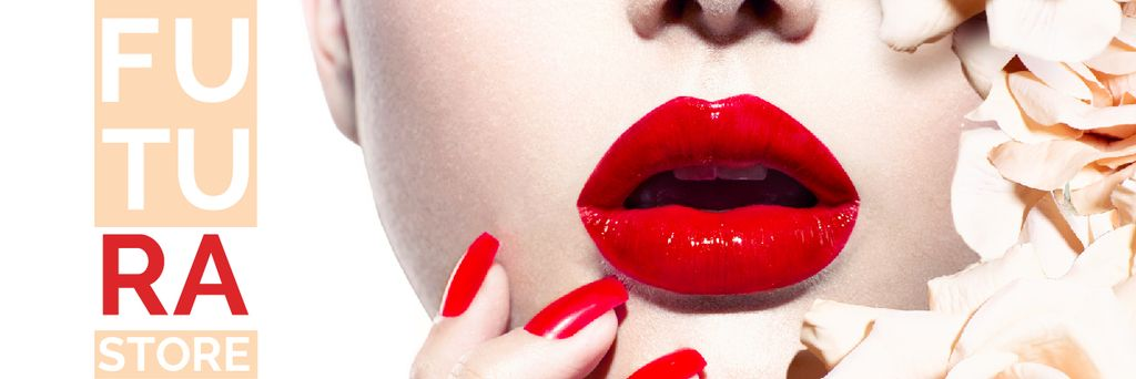 Bright Woman with Red lips — Create a Design